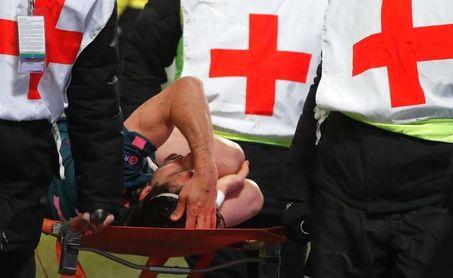 Filipe sufre un fuerte traumatismo en la pierna izquierda