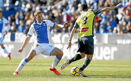 Brasanac, en el partido de Liga con el Leganés ante el Espanyol en Butarque.