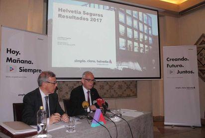 Helvetia Seguros incrementa en 2017 su beneficio en un 12,5%