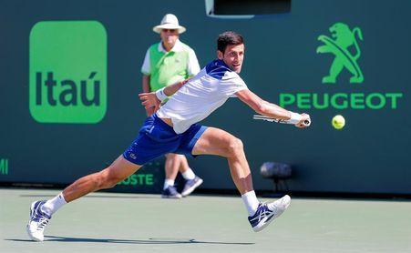 Djokovic sigue de duelo, Del Potro avanza y Puig sorprende a Wozniacki