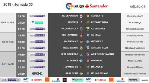 Horarios de Deportivo-Sevilla y Betis-Las Palmas