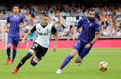 El Valencia ganó en su única visita en Liga a Leganés