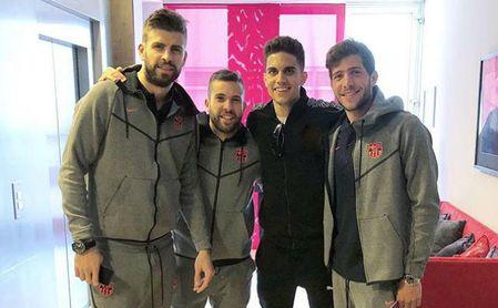 Bartra anima al Barcelona contra el Sevilla
