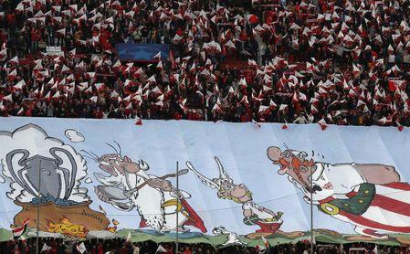 Gran ambiente en el Sevilla-Bayern