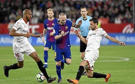 Sevilla y Barça volverán a verse el día 21 en el Wanda Metropolitano.