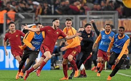 Manolas pasará a la historia por ser el jugador que metió a la AS Roma en las semifinales de la Champions.
