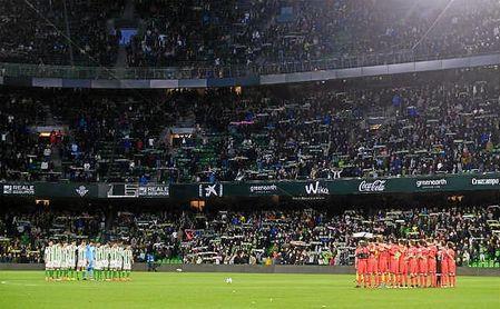 Imagen de la grada del Villamarín en el Betis-Real Sociedad.