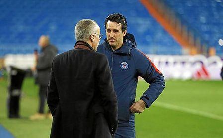 Emery, campeón de la Ligue 1, abandonará el PSG este verano.