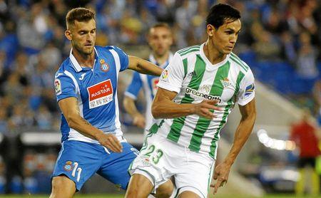 Mandi, en el partido ante el Espanyol.