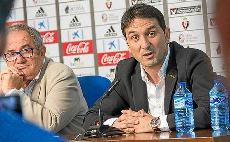 Braulio, en su presentación con Osasuna en mayo de 2017.