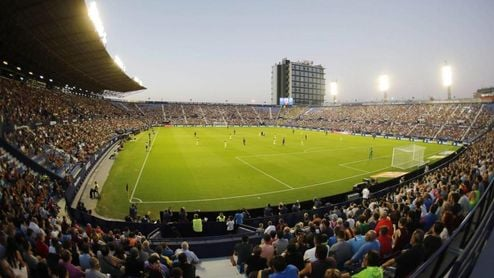 El Ciutat de Valencia en un partido de liga.