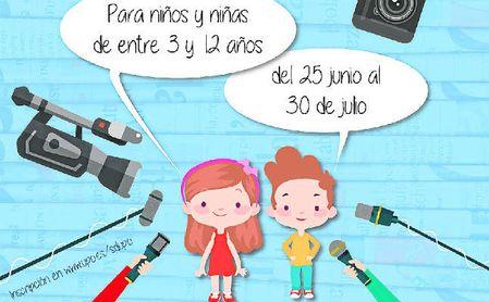 Cartel de la XIV Escuela y VI Pequescuela deportivas de verano.