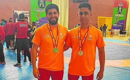 Pablo Pallarés y Alexis García, con las medallas obtenidas en el CEU 2018.