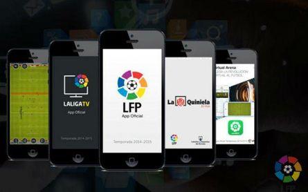 Imagen de la aplicación de LaLiga.