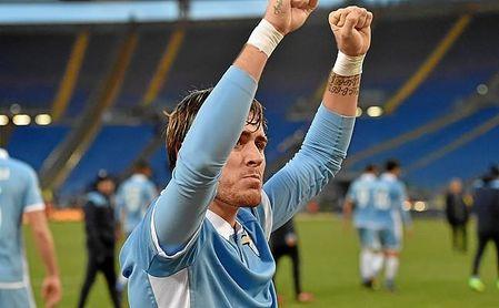 Patric, ex del Barça B, ganó la Supercopa de Italia con la Lazio.