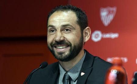 Pablo Machín en su presentación con el Sevilla.