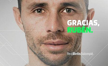 Con esta imagen ha anunciado el Betis la despedida de Rubén Castro.
