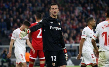 David Soria, en el partido de Champions ante el Bayern.