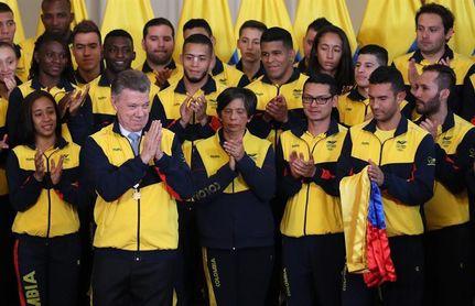 Santos despide a los deportistas colombianos que participarán en los Juegos Centroamericanos