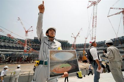 Las obras del nuevo estadio olímpico para Tokio 2020 avanzan a buen ritmo
