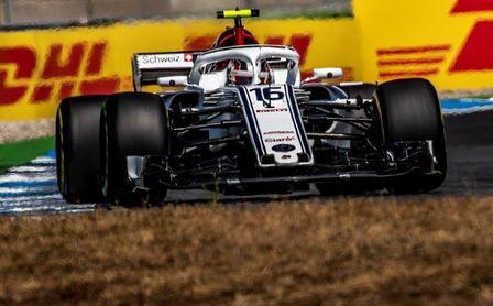Leclerc marca el mejor tiempo bajo la lluvia en el Gran Premio de Alemania de Fórmula Uno