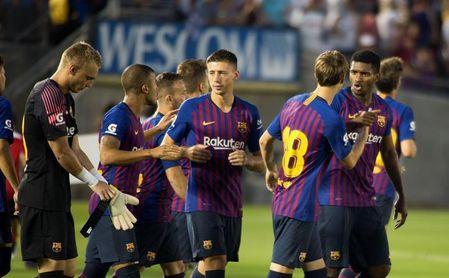 """2-2 (5-3). La """"cara B"""" del Barcelona debuta con victoria en los penaltis"""