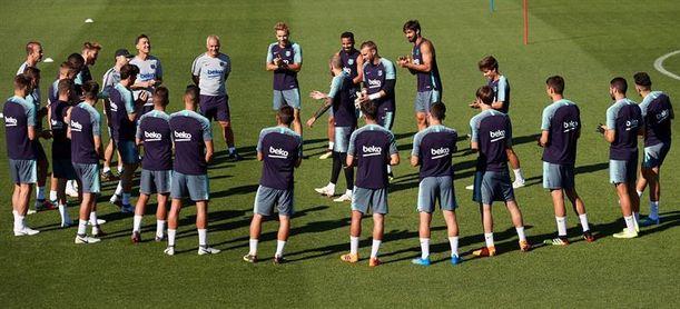 El Barça ya trabaja con todos sus internacionales