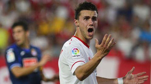 Sebastien Corchia, durante un partido con el Sevilla FC.