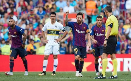 3-0. Malcom, Messi y Rafinha ponen los goles en la fiesta del Gamper