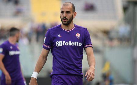 Saponara, durante un partido con la Fiorentina.