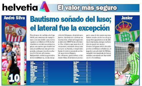 Bautismo soñado de André Silva; Junior, la excepción en el Betis