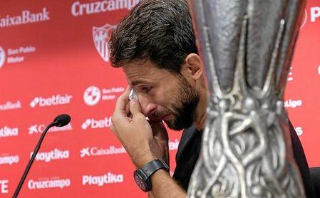 Imagen de la rueda de prensa de Nico Pareja.