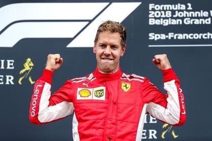Vettel impone la ley del Ferrari en un caótico inicio en Spa