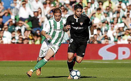 Imagen del derbi del Benito Villamarín de la temporada pasada.
