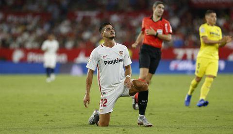 André Silva, en un partido con el Sevilla.
