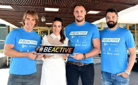 Almudena Cid, Víctor Gutiérrez, Santacana y Galindo, en la Semana Europea Deporte