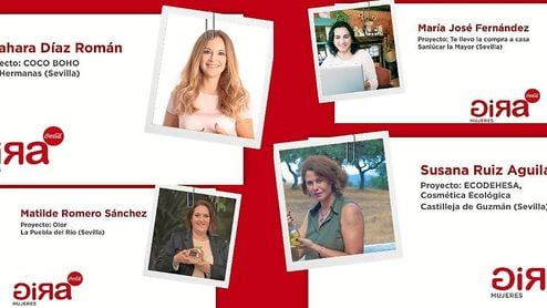 Cuatro sevillanas, finalistas de la segunda edición del programa de emprendimiento gira mujeres de Coca-Cola