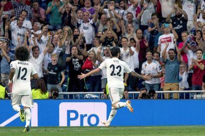 Isco pone con ventaja al Real Madrid en el primer tiempo