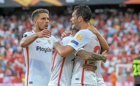 Dos jugadores del Sevilla en el once ideal de la Europa League