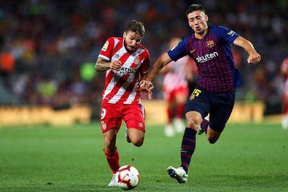 El Barcelona, con uno menos, y el Girona empatan (1-1) tras el primer tiempo