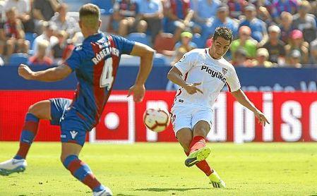 Wissam Ben Yedder es el delantero del Sevilla con mejor promedio goleador en lo que va de siglo.