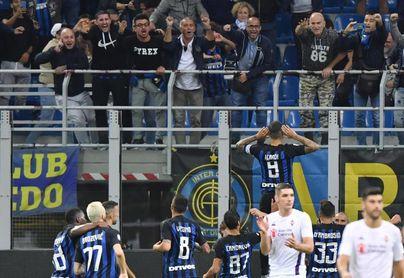 Icardi se estrena e impulsa el triunfo del Inter contra el Fiorentina (2-1)