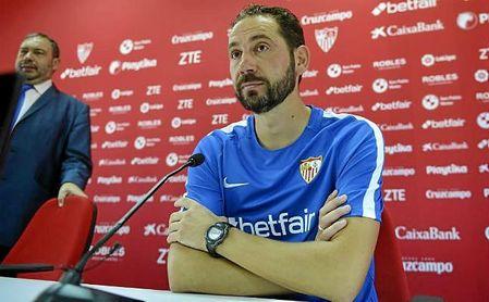 Machín, durante la rueda de prensa previa al Sevilla-Real Madrid.