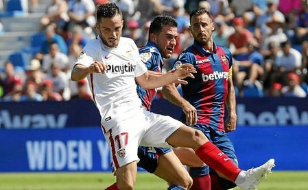 Sarabia, en el partido ante el Levante el pasado domingo.