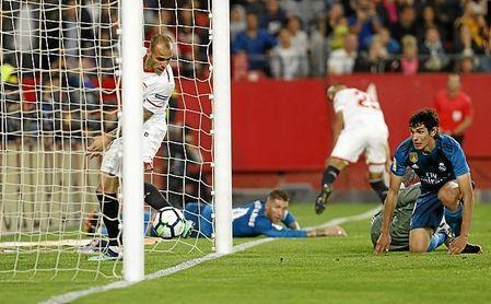 Una imagen del Sevilla FC-Real Madrid de la pasada temporada.