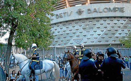 La seguridad en el Benito Villamarín para el España-Inglaterra está garantizada.