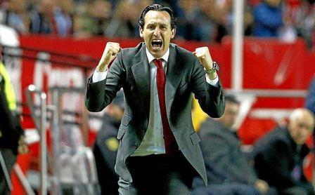 Unai Emery conquistó tres veces consecutivas la Europa League como entrenador del Sevilla.