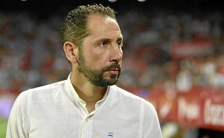 Pablo Machín, en un partido con el Sevilla en el Sánchez-Pizjuán.