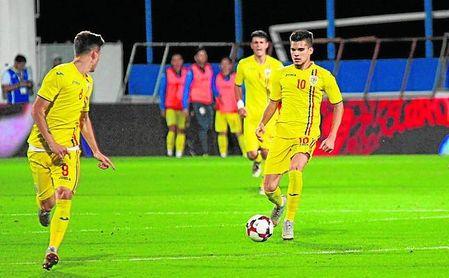 Ianis Hagi, con la selección sub 21 de Rumanía.
