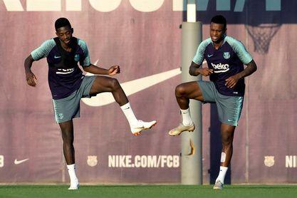 El Barça ya se entrena con todos sus internacionales